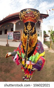 """LOEI ,THAILAND-JUNE 23: Ghost Mash Festival (Phi Ta Khon) is a type of masked procession celebrated on Buddhist merit- making holiday known in Thai as""""Boon Pra Wate"""" at Dan Sai district,June 23,2012"""