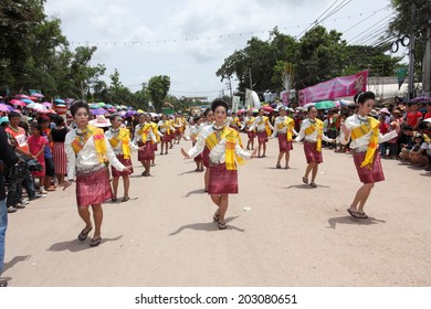 """LOEI ,THAILAND-JUNE 28: Ghost Festival """"Phi Ta Khon"""". The mask procession celebrated in Thailand, The Thai Buddhist ceremony at Loei province, on June 28,2014"""