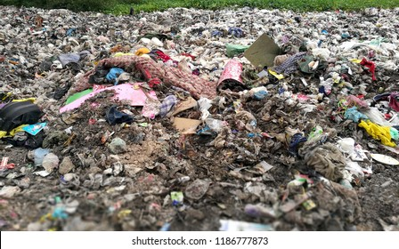LOEI:THAILAND - Jun, 20, 2018: Rubbish dump, Recyclable material at dumping site in Earawan.Rubbish segregation is hardly impose in Thailand beside many campaign by government.