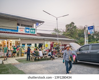 Loei/Thailand-16 Feb 2019:Unacquainted people Prepare to Climbing to phu Kradueng mountain in Convenience Store at Phu Kradueng District Loei City Thailand.