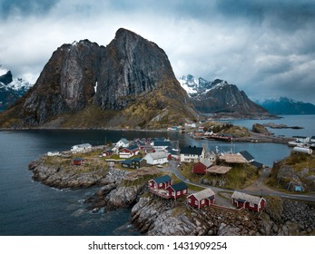 Lofoten islands is an archipelago in the county of Nordland, Norway. Is known for a distinctive scenery with dramatic mountains.