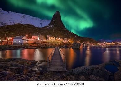 Lofoten Islands Norway Aurora Borealis