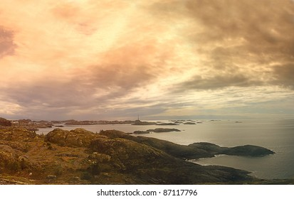 Lofoten islands in Norway, Norwegian sea