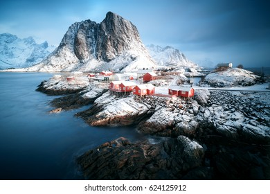 Lofoten islands in winter