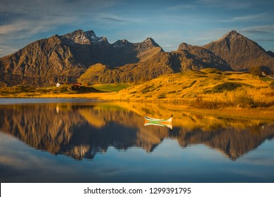 Lofoten lanscape in autumn