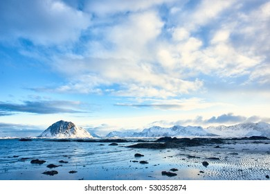 Lofoten mountain and sea