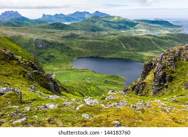 Lofoten mountain view