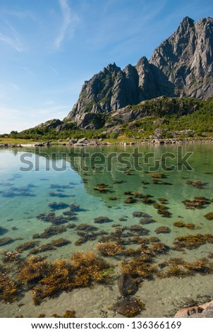 Lofoten, Norway,  in the summer