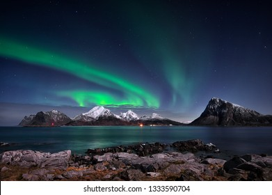 Lofoten is situated just beneath the auroral oval, a belt of light that encircles the geomagnetic poles and provides some of the best chances of seeing the northern lights.
