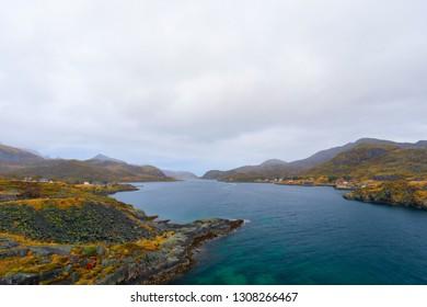 Kåkersundet in Lofots, Norway