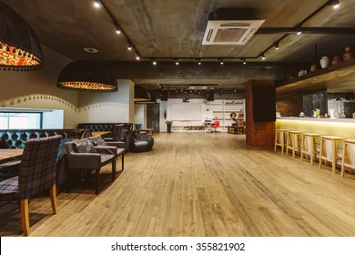 Loft cafe and meeting room interior design