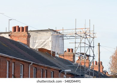 Loft extension being carried out on Victorian terraced property