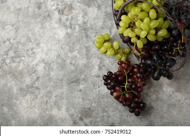 Loft food background with grapes