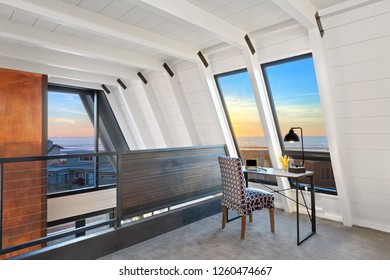 Loft Room With Ocean Views At Sunset