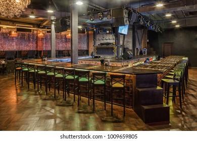 loft stile bar interior  with decoration