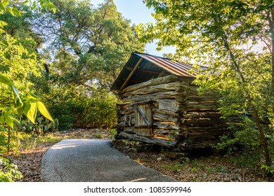 Log Cabin from the 1800's, Balcones Canyonlands, Texas