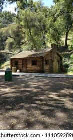 Log cabin in Alum Rock Park, San Jose, California.