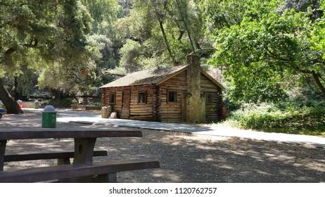 Log cabin in Alum Rock Park, San Jose, CA