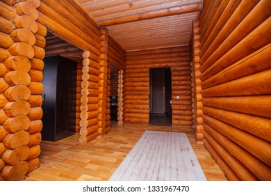 log house corridor