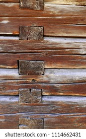log house , detail of wooden wall