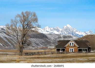 Log House on Elk Refuge