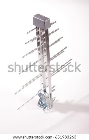 Log Periodic Antenna UHF Tv Isolated Stock Photo (Edit Now