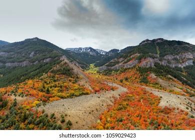 Logan Peak in Fall, Utah