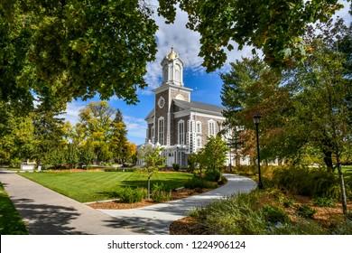 Logan, Utah / USA - October 10 2016: Logan Tabernacle
