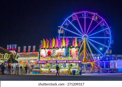 LOGANDALE , NEVADA - APRIL 10 : Amusement park at the Clark County Fair and Rodeo held in Logandale Nevada , USA on April 10 , 2015