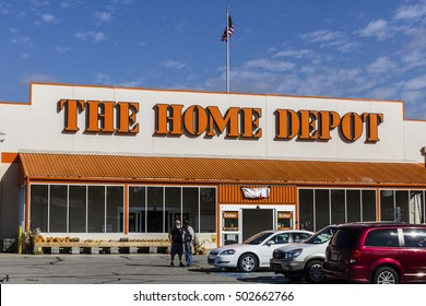 Logansport - Circa October 2016: Home Depot Location. Home Depot is the Largest Home Improvement Retailer in the US IV