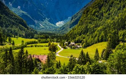 Logar valley in summer, Slovenia