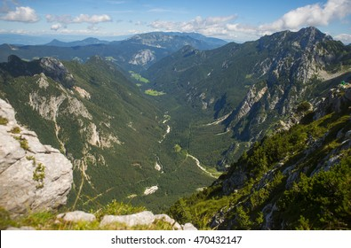 Logar valley, view from Kamnik saddle, Slovenia