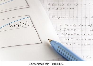 Logarithmic Graph and Handwritten Mathematics Equations