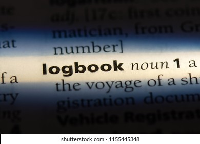 logbook word in a dictionary. logbook concept.