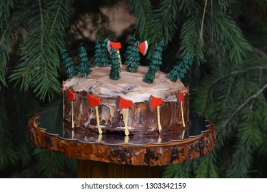 Logger Themed Birthday Cake