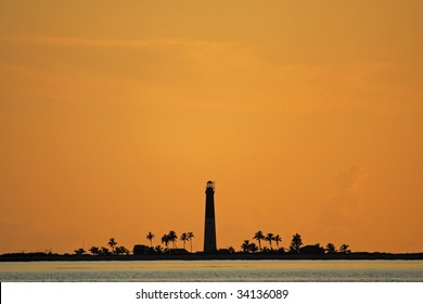Loggerhead Key Lighthouse Silhouette
