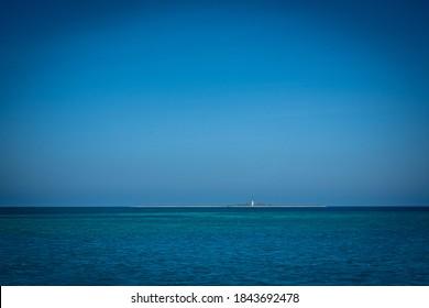 Loggerhead LIghthouse On Clear Day in Florida Keys