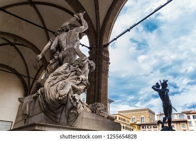 Loggia della Signoria in Florence, Italy