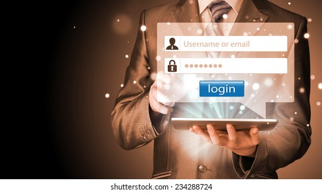 login and password