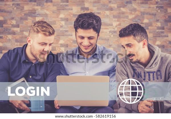 Login Technology Concept