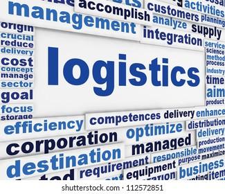 logistics poster conceptual design. Commercial distribution message background