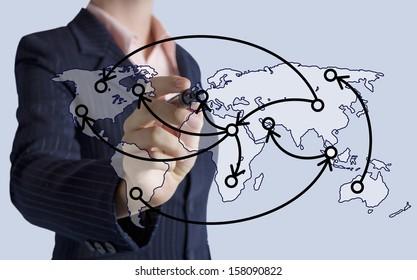 Logistics technology concept