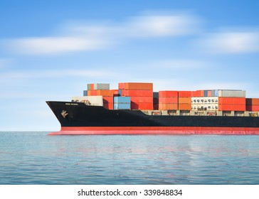 Logistics and transportation of cargo freight ship and cargo container for logistics and transportation background.