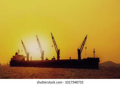 Logistics and transportation of International Container Cargo ship in the ocean at Sunshine sky, Freight Transportation, Shipping