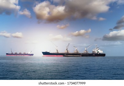 Logistik und Transport des internationalen Containerfrachtschiffs im Ozean