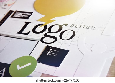 Logo design. Concept for website and mobile banner, internet marketing, social media and networking, branding, marketing material.