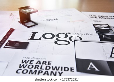 Logo design. Creative concept for website and mobile banner, internet marketing, social media and networking, branding, marketing material, presentation template.