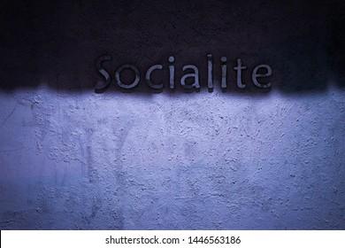 Logo socialite on the wall