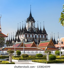 Loha Prasat Metal Palace in Wat Ratchanatdaram Worawihan,  Bangkok Thailand.