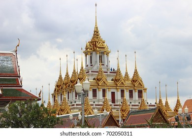 Loha Prasat ,Wat Ratchanaddaram ,Bangkok ,Thailand.The third Loha Prasat ,the one and only structure of its left in the world.